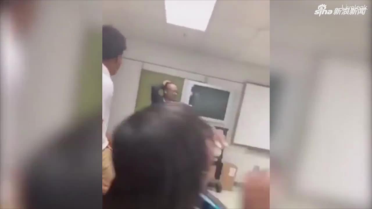视频-熊孩子趁老师不备一把扯下假发 当着全班挥舞