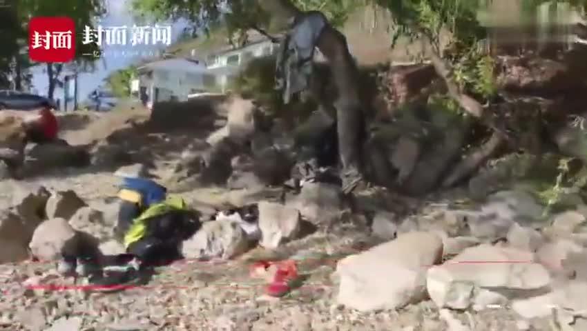 视频|4名外国游客洱海游泳:看见中国人游才去游的