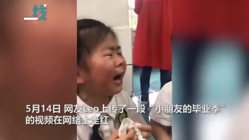 视频|小朋友将从幼儿园毕业大哭:不能像以前一样快