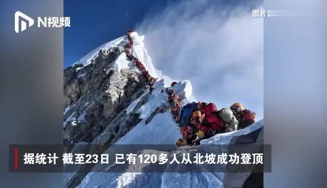 视频-8千米海拔百人排队登珠峰 拥堵致多人死亡