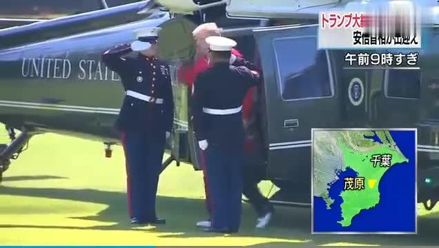 """视频-特朗普访日打高尔夫看相扑 安倍将""""陪玩""""一"""