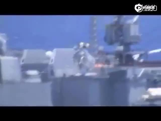 美俄兩國軍艦在中國東海險些相撞!畫面曝光(視頻)