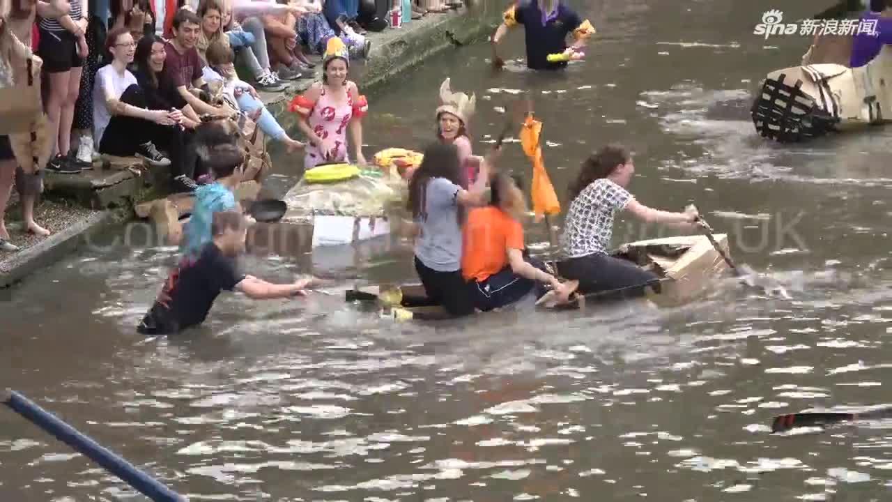 视频:学霸也疯狂!为庆祝夏季考试结束 剑桥学生狂