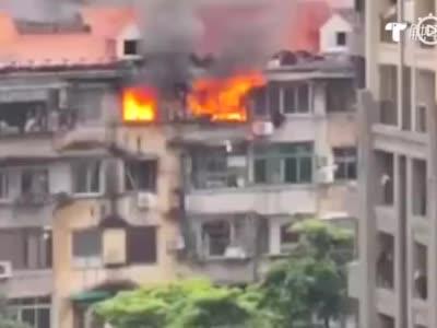 广州荔湾黄沙大道南民房火灾致1死2伤