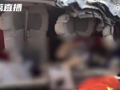 视频:京沪高速泰兴东发生车祸致6死7伤