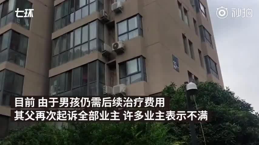 视频:高空坠物砸伤少年 300户业主成被告