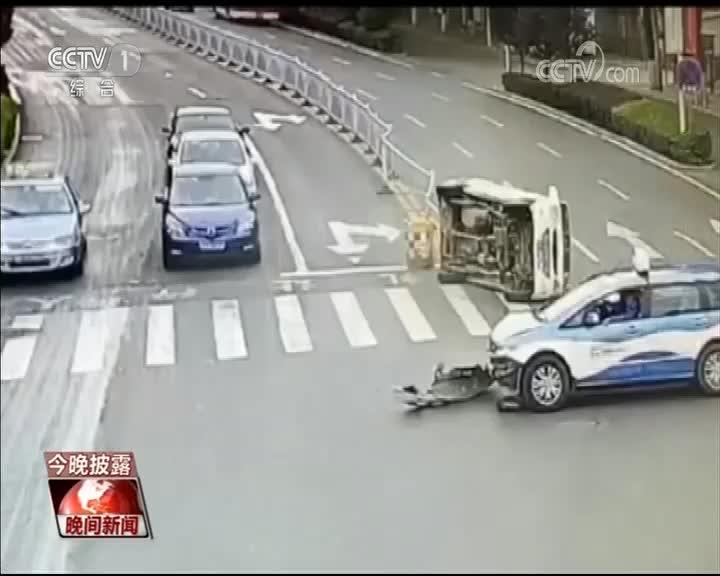 视频-的哥遇别车事故第一时间救人:即使被误会 也