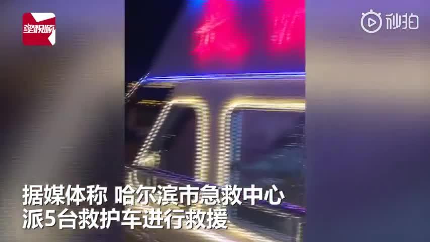 视频:惊险!哈尔滨松花江一客轮与运沙船相撞 致5