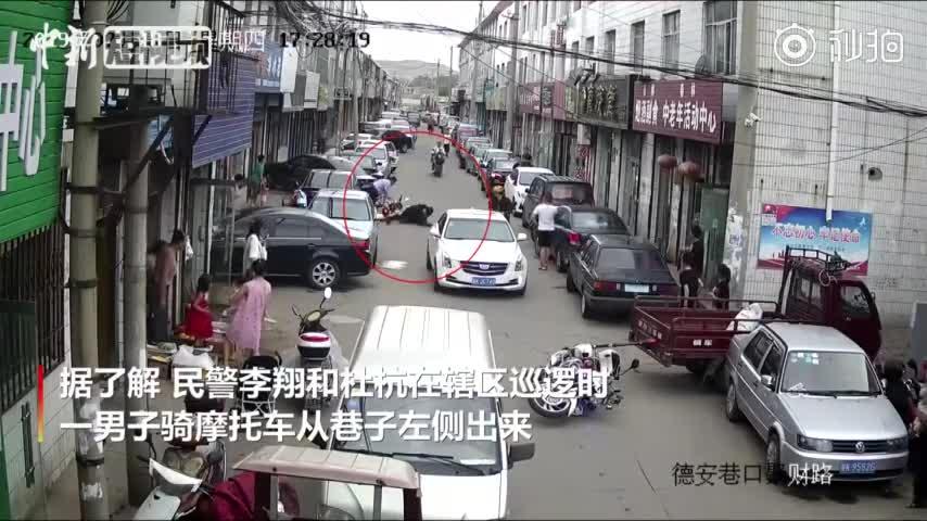 视频:只因多看了一眼 民警骑车路过认出毛贼将其拉