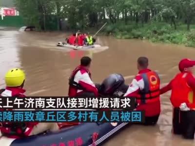 山东多村被淹:消防疏散被困群众990余人,幸无人员伤亡