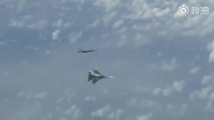 视频|苏-27战斗机驱离跟踪俄国防部长专机的北约