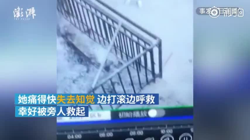 视频-女香客掉入香灰池被烧伤 寺庙:香灰池系违建
