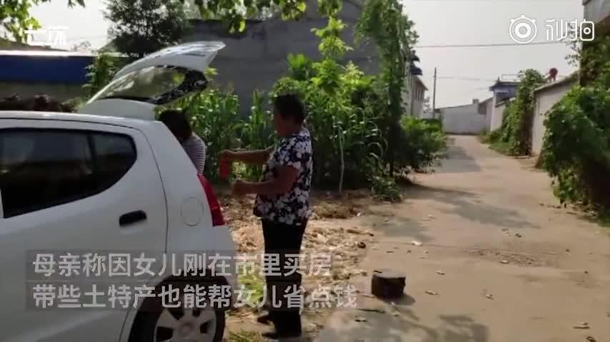 视频:女儿国庆后离家 母亲准备80斤土特产