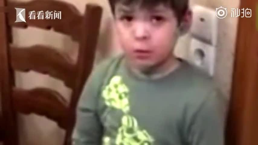 """视频:家人杀了只老鼠 6岁男孩正义感爆棚为鼠""""申"""