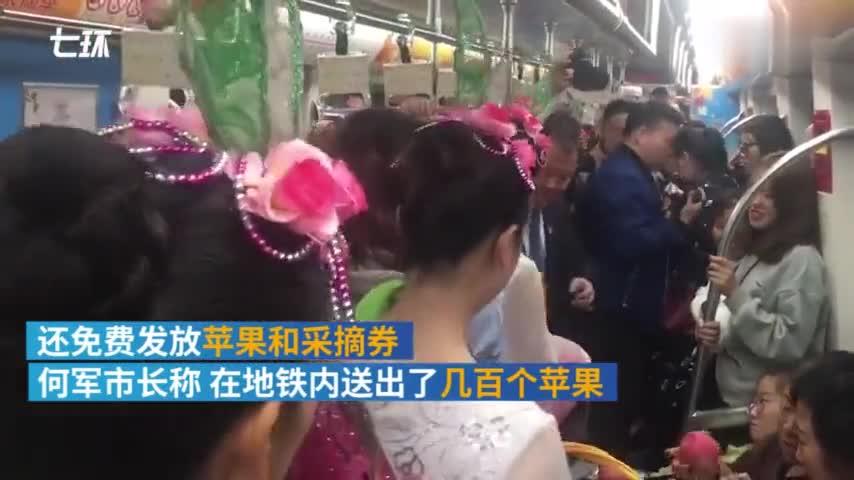 视频-河南灵宝市长地铁推销苹果:望农民有好收入