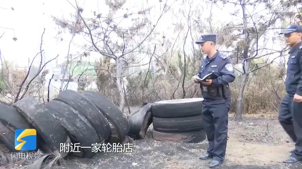 视频-暴躁老哥上线?青岛一男子绿化带方便时被树叶
