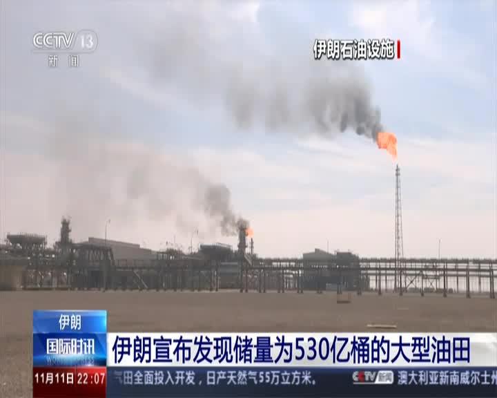 视频:伊朗发现新油田估算储量530亿桶 不忘向美