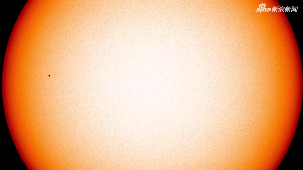 """视频:NASA公布""""水星凌日""""精彩画面 """"小黑痣"""