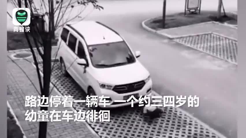 视频-捏一把汗!司机开车前绕车一周,竟发现车底有