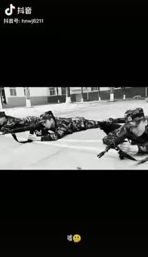 视频|兵哥哥趴地训练遭狗子偷亲