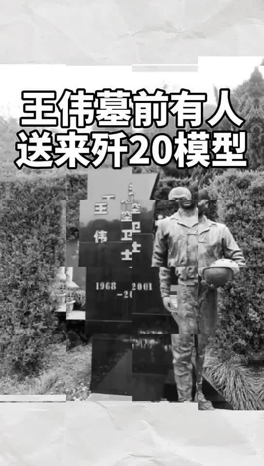81192,我们从未忘却 王伟墓前有人送来歼20模型