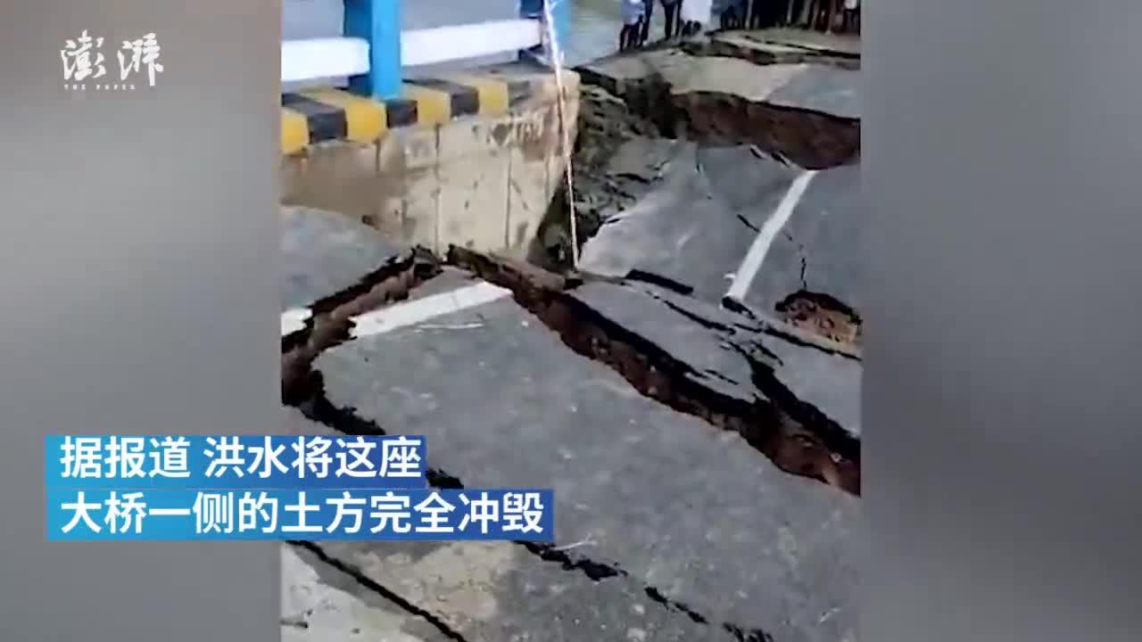 通车仅29天 印度造价2亿大桥遭洪水冲垮
