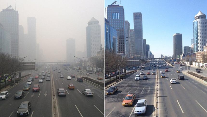 热门话题-延时摄影记录北京雾霾消散全过程